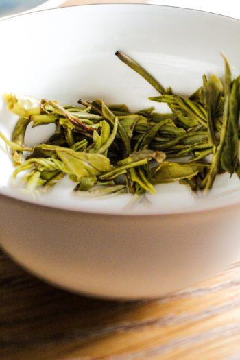 Thé Jaune de Chine - Or Jaune - Détail feuilles infusées (2)