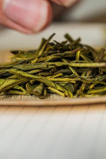 Thé Jaune de Chine - Or Jaune - Observation feuilles sèches