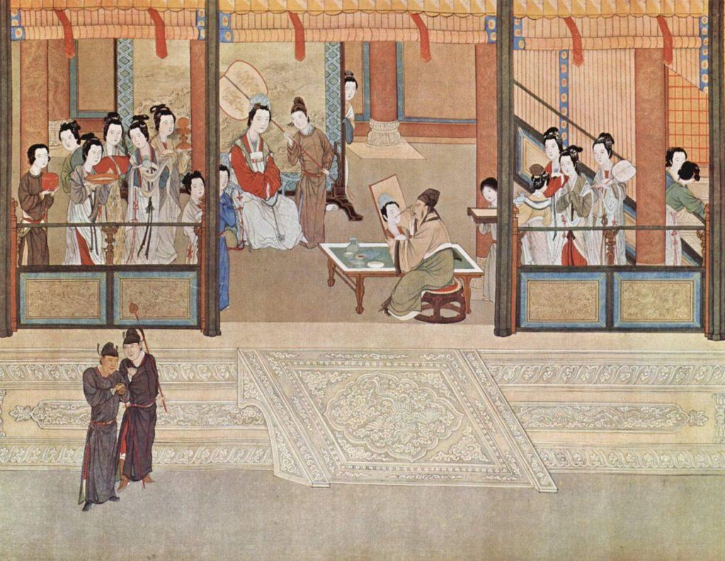 'Matin de Printemps au Palais des Han' par Qiu Ying (1494–1552)