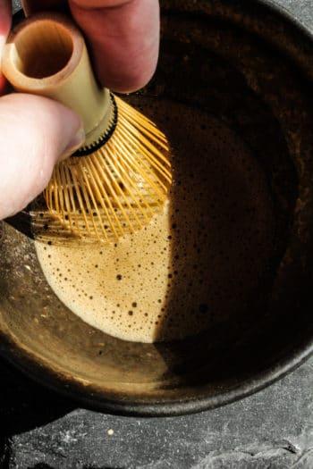 Malcha noir de Corée 「Mousse de Basalte」