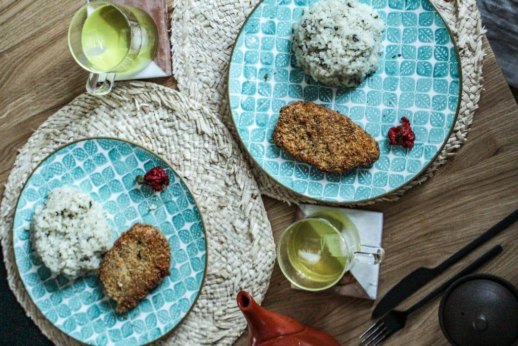 Escalope milanaise au thé blanc - Cuisine au thé - Curiousitea