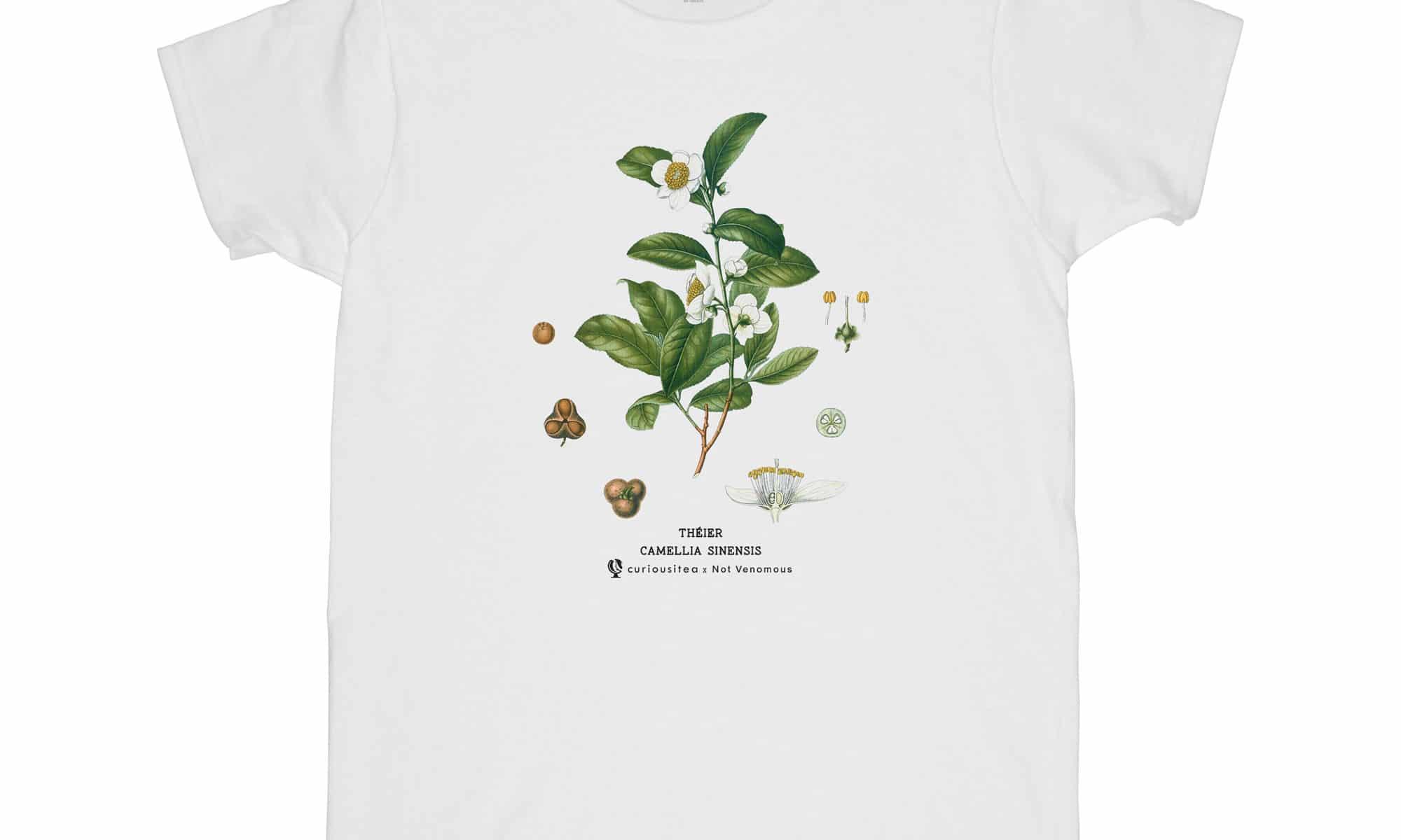 T-shirt Théier 'Camellia Sinensis' Curiousitea x Not Venomous